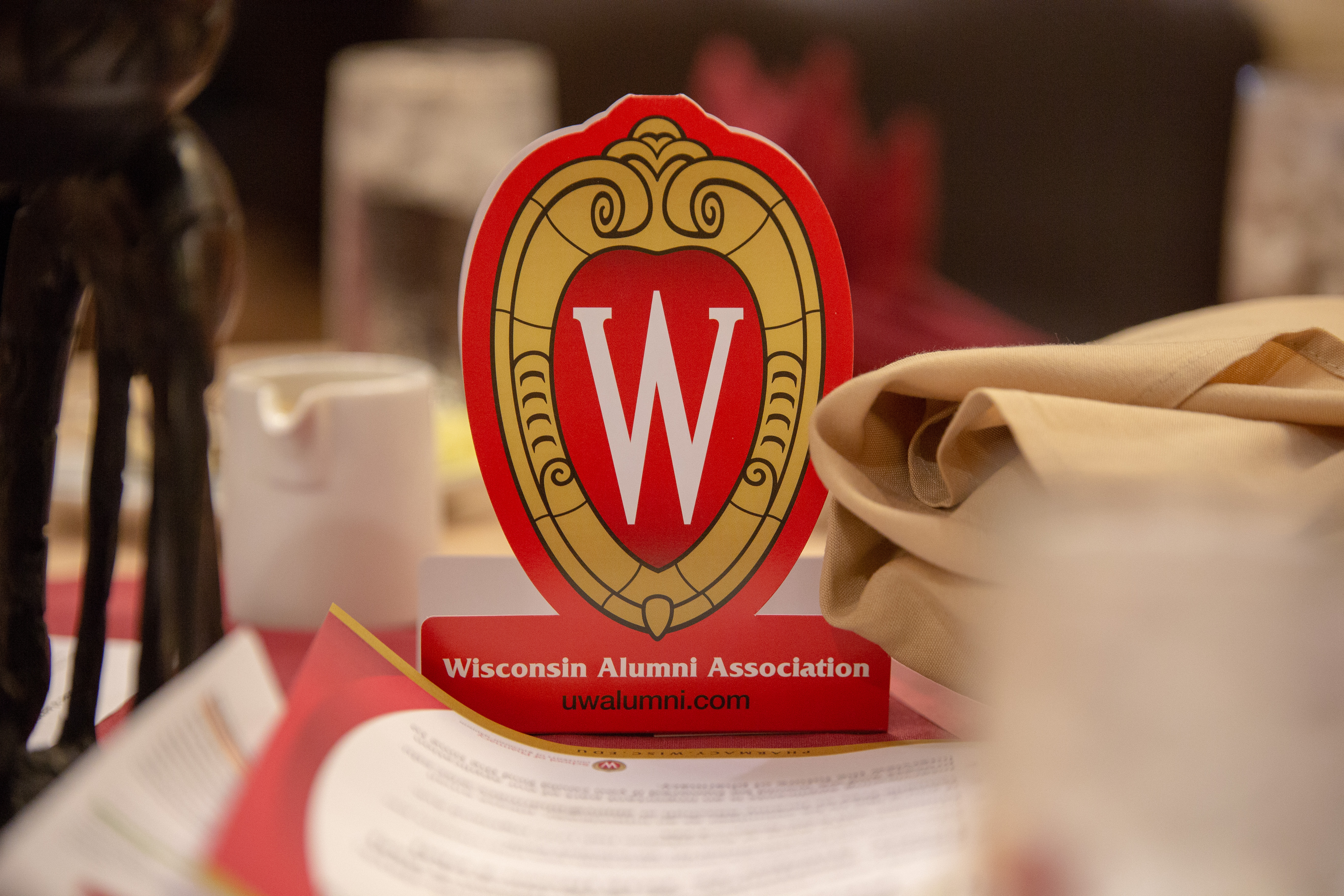 UW-Madison crest at the Pharmacy Alumni Association Luncheon at the annual PSW meeting