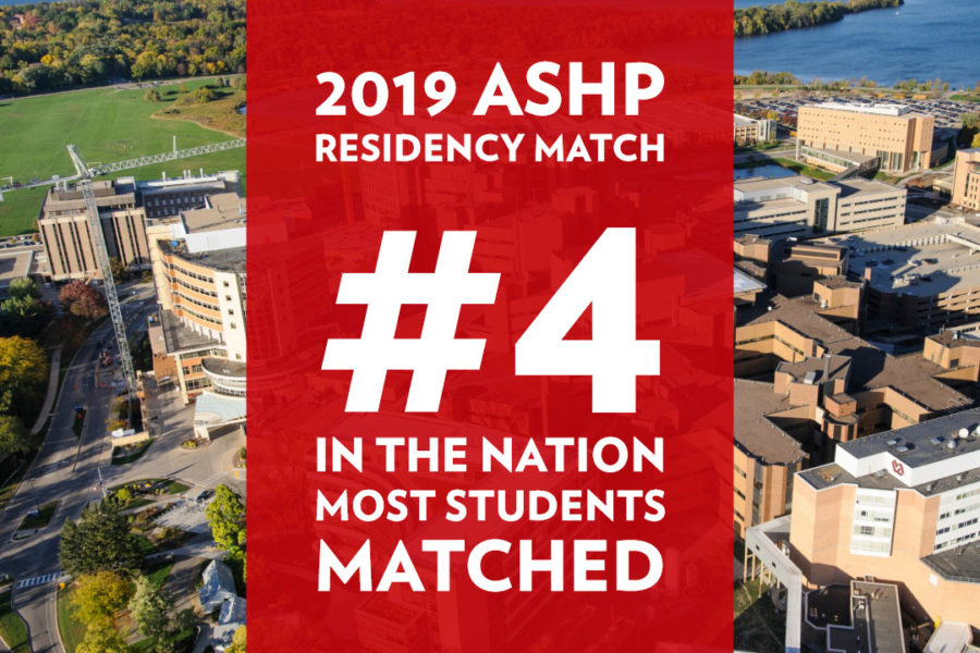 The School's 2019 ASHP residency match was 4th highest in the nation.