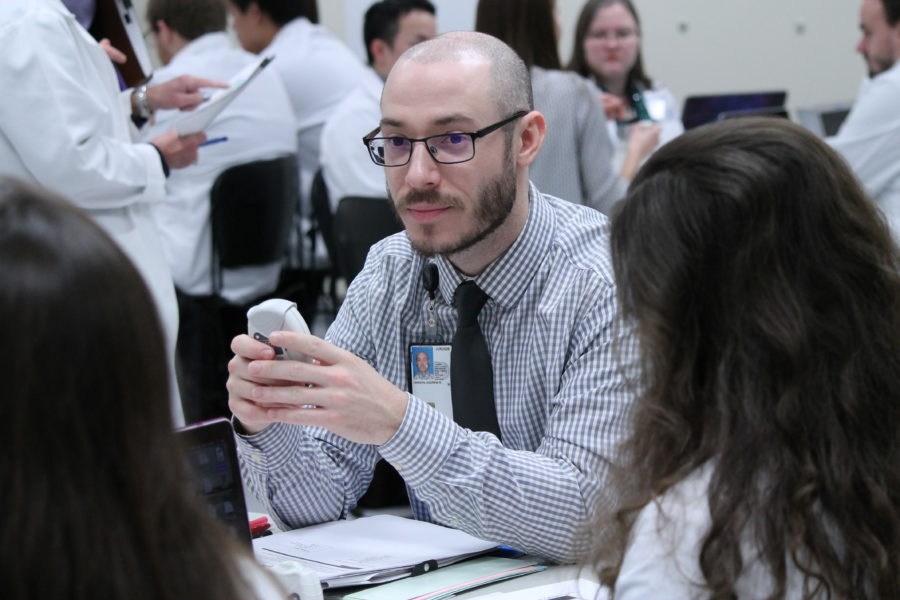 Andy Cannon in the pharmacotherapy lab