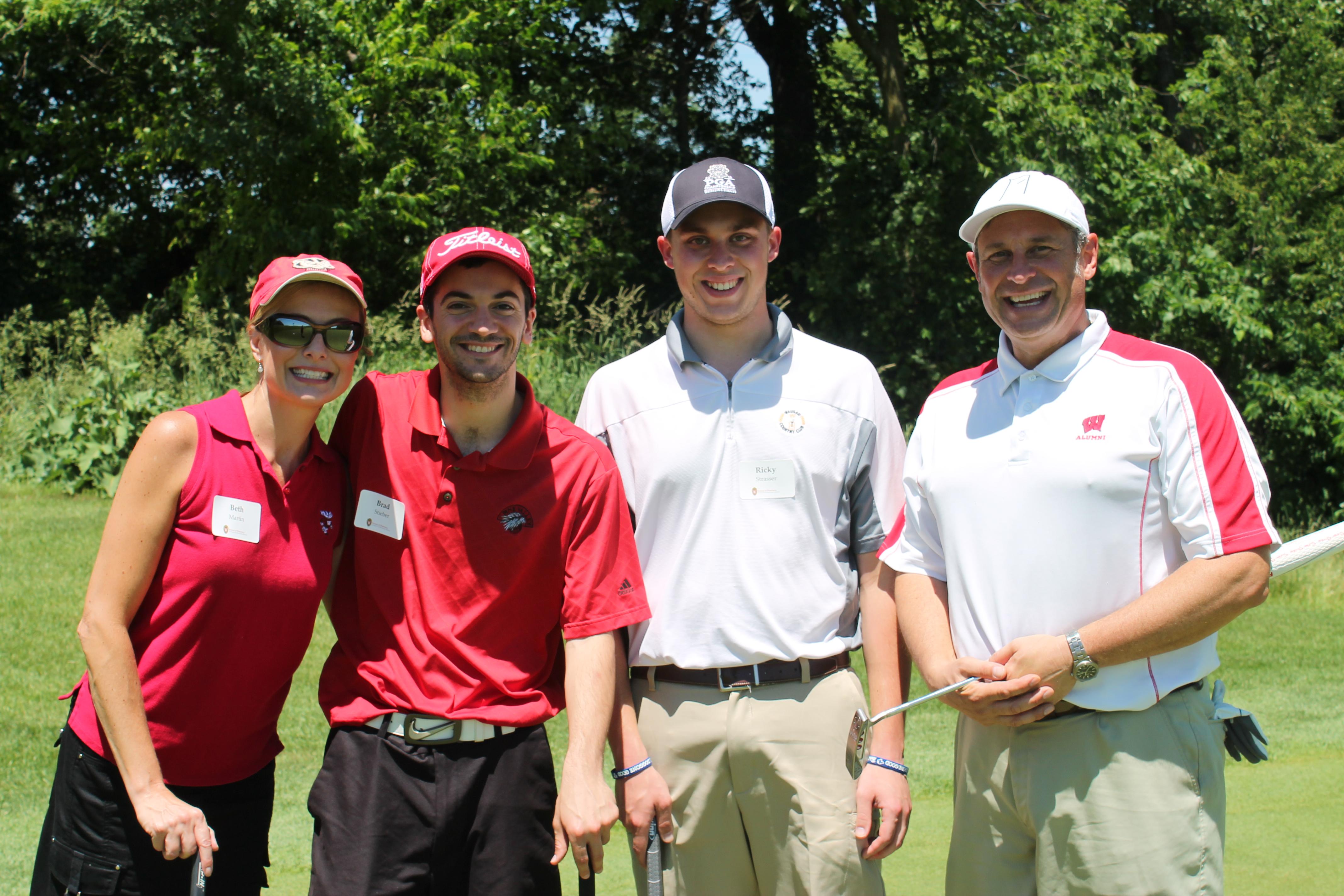 Beth Martin, Brad Steiber, Ricky Strasser at the Golf Outing