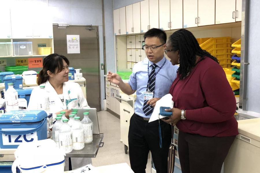 Olayinka Shiyanbola in a Taiwanese pharmacy
