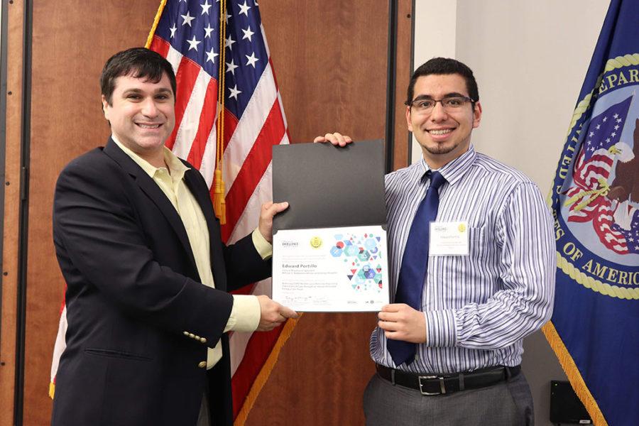 Ed Portillo receiving an award for COPD CARE