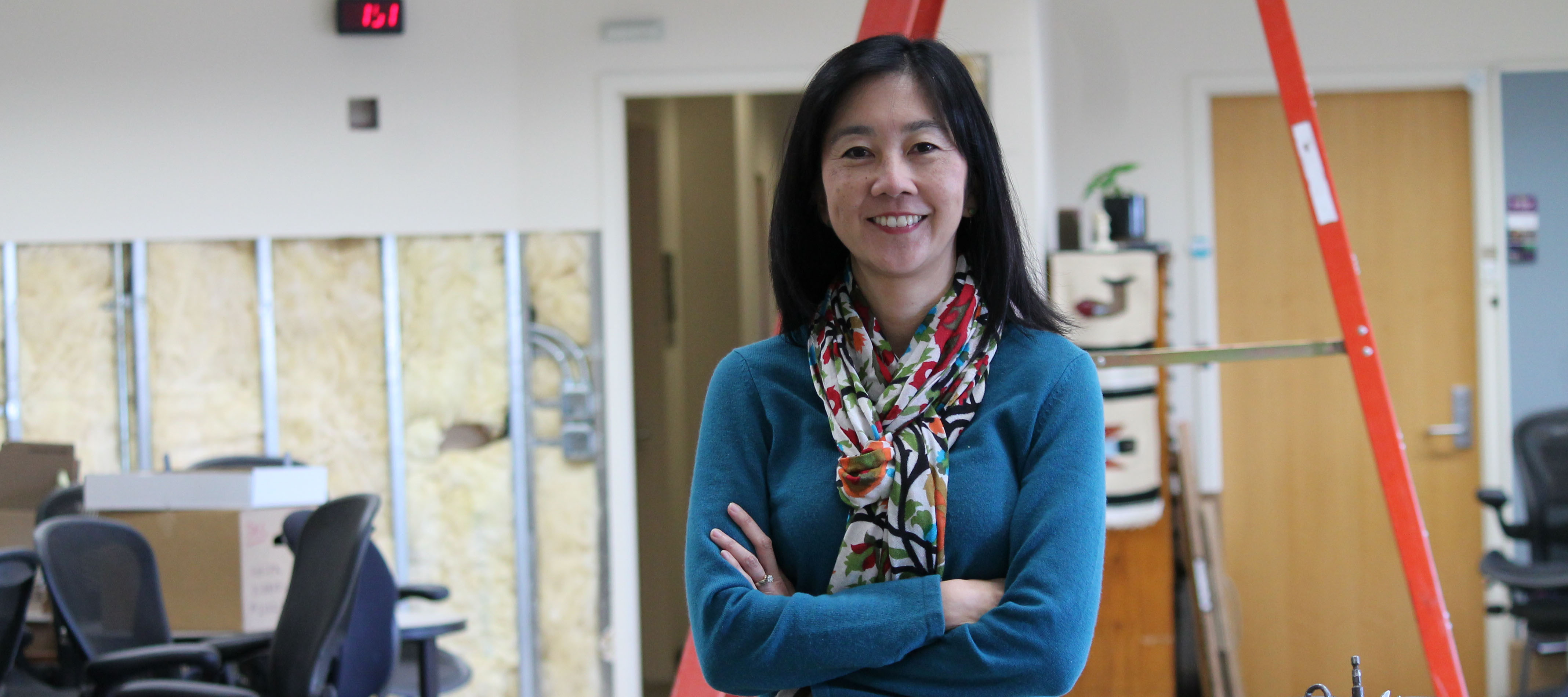 Michelle Chui in the Sonderegger Research Center