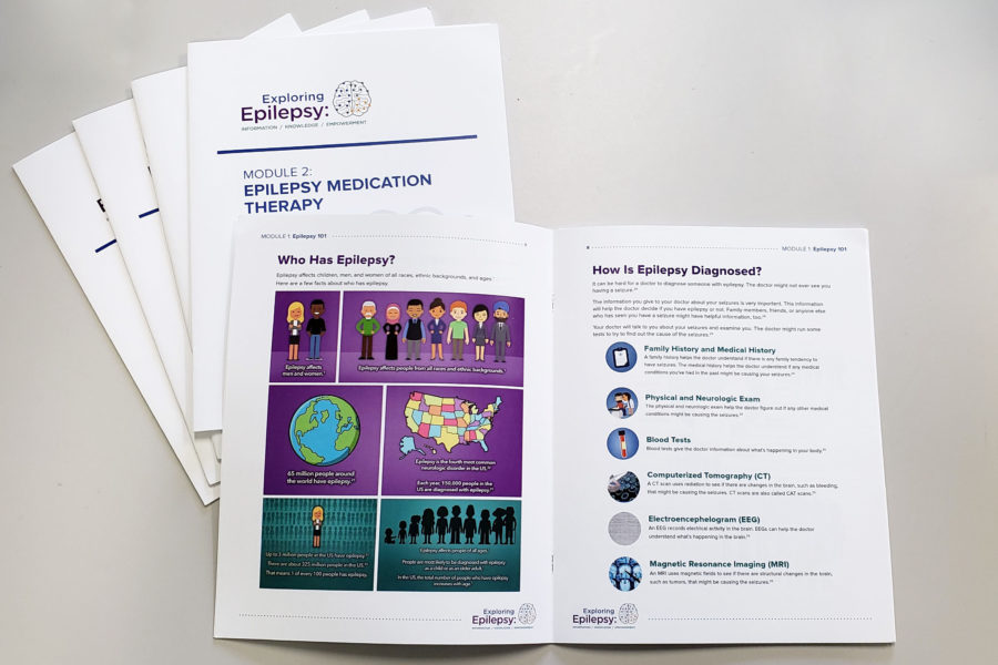 Materials involved in an patient education project for patients with epilepsy.