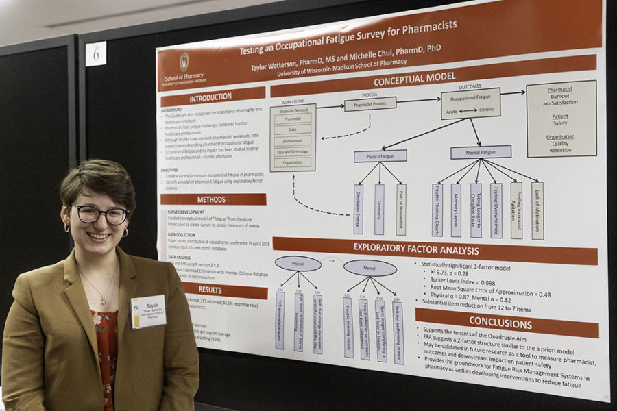 Taylor Watterson presenting her research.