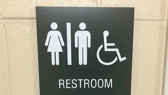 All-gender bathroom sign