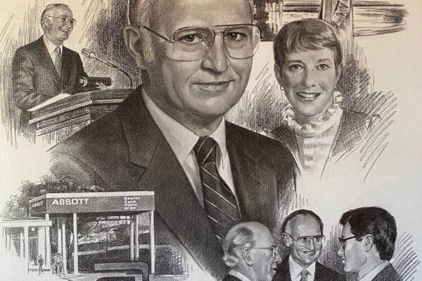 Drawing of Milton Henrichs.